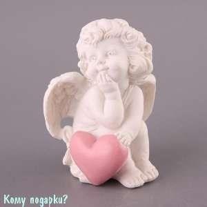 Фигурка «Ангелочек с сердцем», коллекция «amore», h=9 см - фото 48576