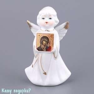 Фигурка «Ангел с иконой Богоматери», h=10 см - фото 48594