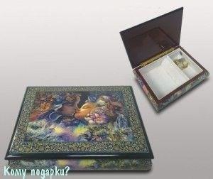 """Шкатулка для ювелирных изделий """"Поцелуй"""", 21x16x6 см - фото 49926"""