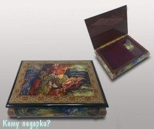 """Шкатулка для ювелирных изделий """"Девушка с ракушкой"""", 21x16x6 см - фото 49929"""