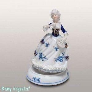Статуэтка музыкальная «Девушка с веером», h=19 см - фото 49979