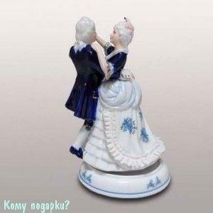 Статуэтка музыкальная «Танцующая пара», h=21 см - фото 49981