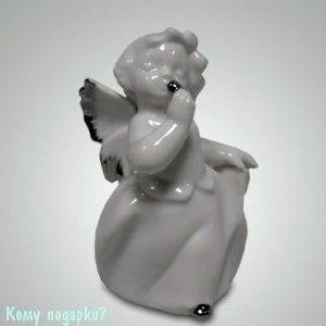 Статуэтка «Ангелочек», h=9,5 см, белый - фото 49988
