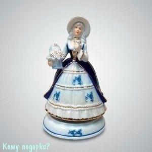 Статуэтка музыкальная «Дама с корзинкой», h=20 см - фото 50005