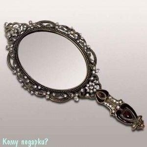 Зеркало ручное, 22x10 см, SJ-215A - фото 50020
