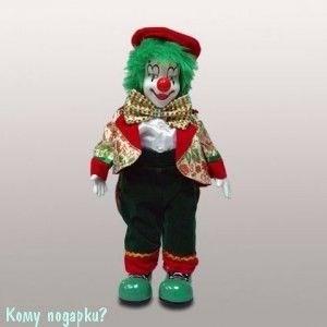 Фигура музыкальная «Клоун», h=27 см, красно-зеленый - фото 50646