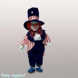 Фигурка музыкальная «Клоун», h=28 см, красно-синий - фото 50647