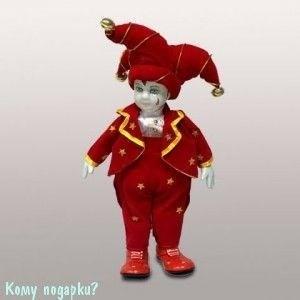 "Фигурка музыкальная ""Клоун"", h=29 см, красный - фото 50649"