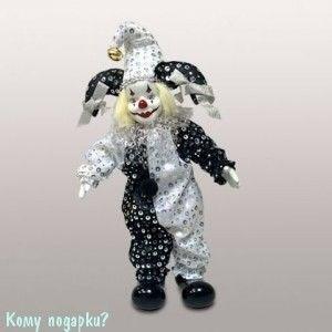 Фигурка «Клоун», h=29 см, черно-белый - фото 50651