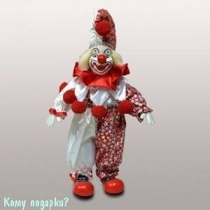 Фигурка «Клоун», h=29 см, красно-белый - фото 50653