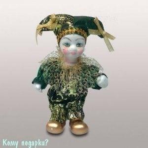 Фигурка «Клоун», h=16 см, зеленый - фото 50656