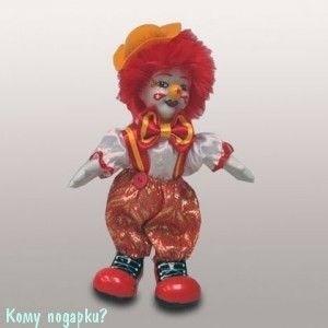 """Фигурка """"Клоун с красными волосами"""", h=16 см - фото 50657"""