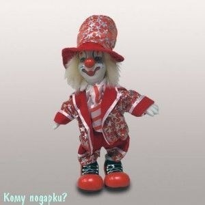 """Фигурка """"Клоун"""", h=19 см, красный - фото 50660"""