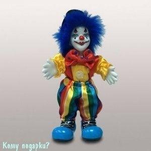 "Фигурка ""Клоун с синими волосами"", h=16 см - фото 50662"