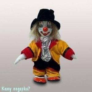 """Фигурка """"Клоун в черной шляпе"""", h=12 см - фото 50664"""