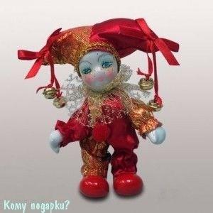 Фигурка декоративная «Клоун», h=12 см, красный - фото 50665