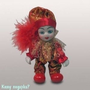 """Фигурка """"Клоун"""", h=12 см, красный - фото 50667"""