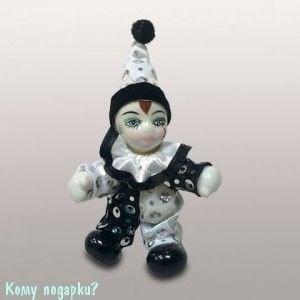 "Фигурка ""Клоун"", h=10 см, черно-белый - фото 50668"