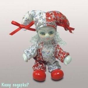 Фигурка «Клоун», h=10 см, красно-белый - фото 50669