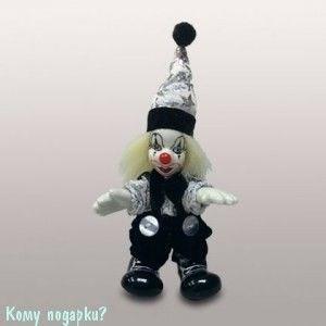Фигурка декоративная «Клоун», h=10 см, черно-белый - фото 50670
