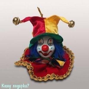 Подвеска «Клоун», h=8 см, красно-желтый - фото 50676