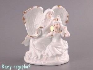 Фигурка «Ангел и девушка», h=16 см - фото 50816