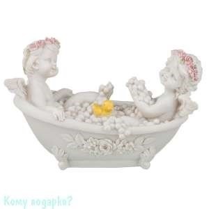 Фигурка «Два ангелочка в ванне», коллекция «amore», 10x15 см - фото 50829