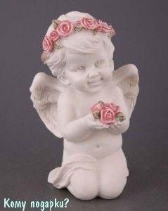 Фигурка «Ангелочек в венке», коллекция «amore», h=15 см - фото 50858