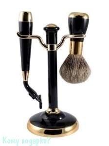 Набор для бритья, 2 предм., чёрный, золото - фото 51028
