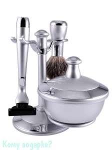 Набор для бритья, 3 предм., серебряный, хром - фото 51443