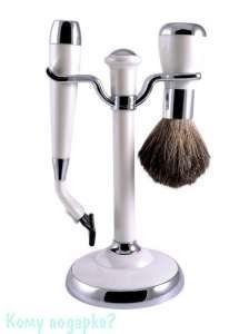 Набор для бритья, 2 предм., белый - фото 51447