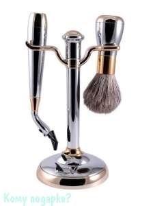 Набор для бритья, 2 предм., хром, золото - фото 51448