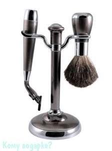Набор для бритья, 2 предм., никель - фото 51449