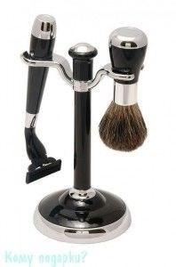 Набор для бритья, 2 предм., чёрный, серебро - фото 51450