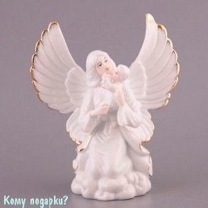 Фигурка «Ангел с младенцем», h=18 см - фото 51620