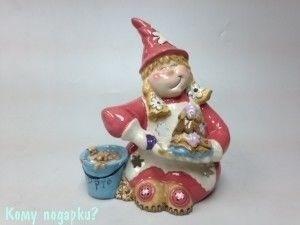 Подсвечник декоративный «Гномик-сладкоежка» - фото 52072