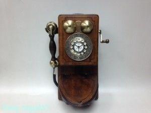 Ретро телефон настенный, кнопочный, 43x26x10 см - фото 52293