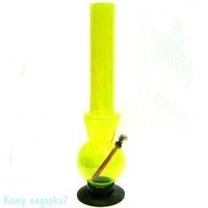 Мини-кальян (бонг), 41 см, кислотно-желтый - фото 52858
