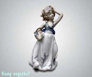 Статуэтка «Девочка с корзинкой», 19 см - фото 53333
