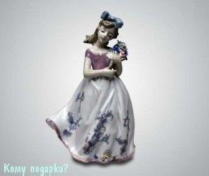 """Статуэтка """"Девочка с букетом"""", 24 см - фото 53334"""