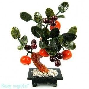 Дерево из 5 мандаринов и винограда, h=25 см - фото 53634