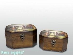 Набор из 2-х шкатулок; 19,5x16x10,5 см, 16,5x12,5x8,5 см - фото 53752