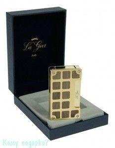Зажигалка с пьезоэлементом La Geer (Италия), золотая канистра - фото 54150
