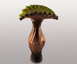 Стеклянная ваза, h=49 см - фото 54557