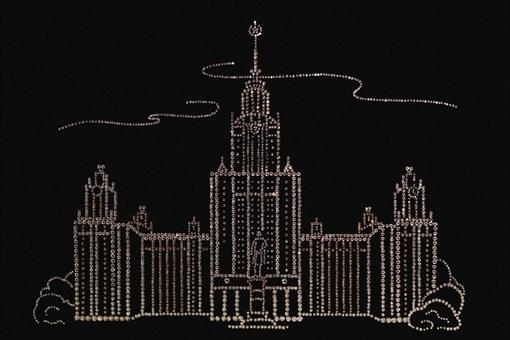 """Картина Сваровски (Swarovski) """"МГУ"""" 40х30 см - фото 55003"""