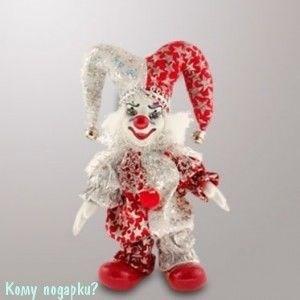"Фигурка ""Клоун"", h=14 см, красно-белый - фото 55189"