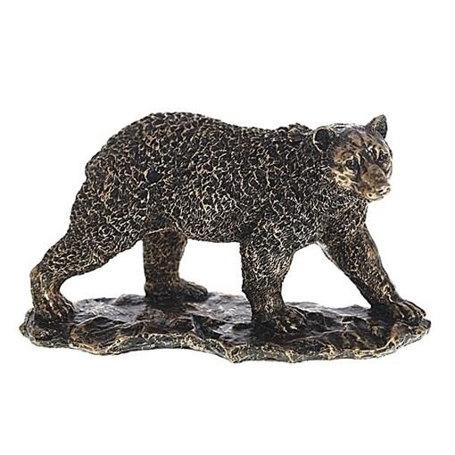 Фигурка декоративная Медведь цвет бронза L26W11H15см - фото 68315