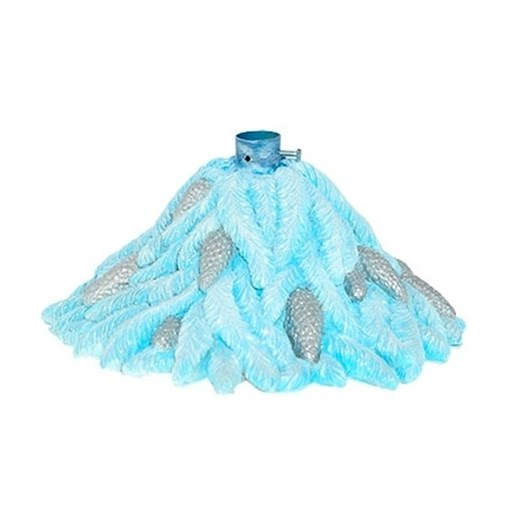Фигура декоративная Подставка под елку Хвоя голубая D45H25см - фото 68342