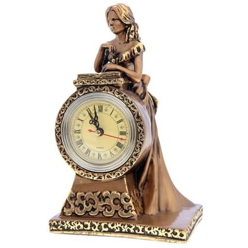 Часы настольные Девушка цвет: сусальное золото L15W11Н25 см - фото 68360