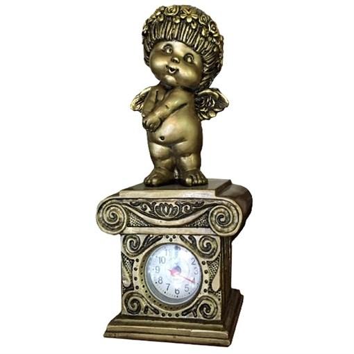Часы настольные Ангел-I цвет: сусальное золото Н25.5 см - фото 68365